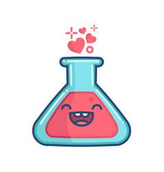 Kawaii valentine love elixir potion vector
