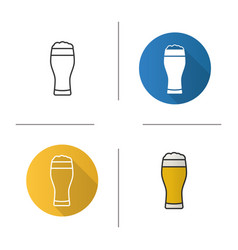 Light beer glass icon vector
