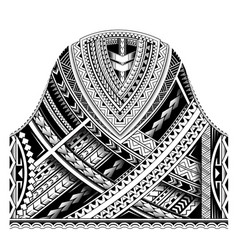 Maori half sleeve ornament vector