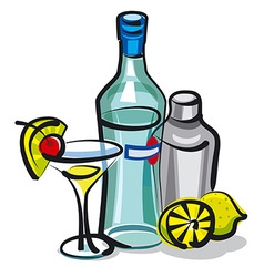 martini bottle vector image
