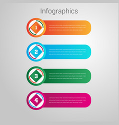 Modern abstract infographics design vector