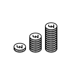 Money pound icon vector image