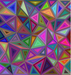 Multicolored triangle mosaic background design vector image