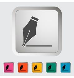 Nib icon vector