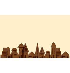 Old little town vector image