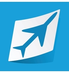 Plane sticker vector image