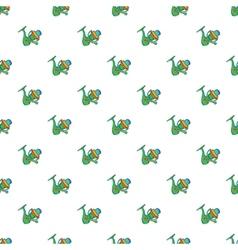 Reel on rod pattern cartoon style vector