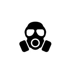 respirator gas mask flat icon vector image