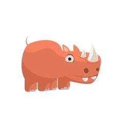 Rhino funny vector