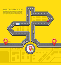 Road direction paved path on the road vector