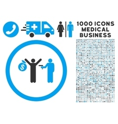 Robbery Icon with 1000 Medical Business Pictograms vector