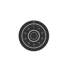 Safe combination lock wheel icon isolated vector