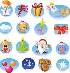 Set of Christmas icons - vector