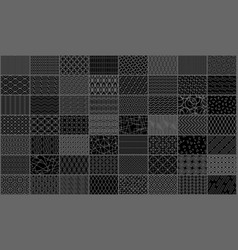 set of linear seamless geometric pattern vector image