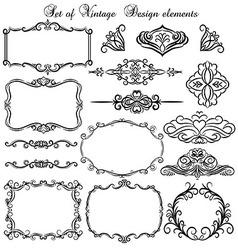 Set of vintage design elements vector image