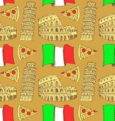 Sketch Italian pattern vector image