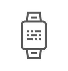 smart watch electronic devices line icon vector image