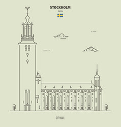 Stockholm city hall sweden vector