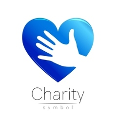 Symbol of Charity Sign hand vector image