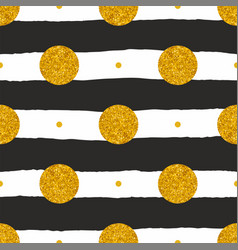 tile pattern with black and white stripes and gold vector image