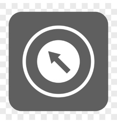 Up-Left Rounded Arrow Rounded Square Button vector image