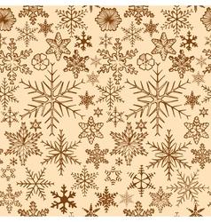 Vintage snowflakes background vector