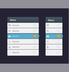 Web site design menu navigation elements with vector