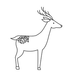 wild deer isolated icon vector image