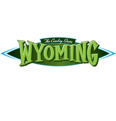 wyoming the cowboy state vector image