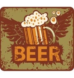 beer and wings vector image