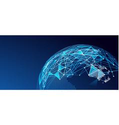 digital network vector image vector image