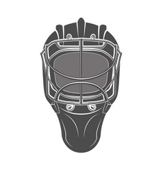 goalkeeper hockey helmet vector image vector image