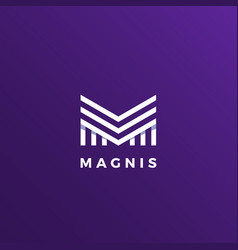 magnis abstract geometry minimal sign vector image vector image