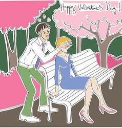 Valentine surprise vector image vector image