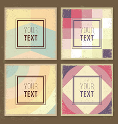 vintage creative cards hipster textures retro vector image