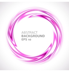 Abstract purple and pink swirl circle bright vector image vector image