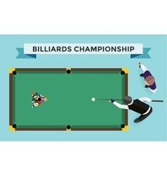 Billiards flat pool game accessories vector image vector image