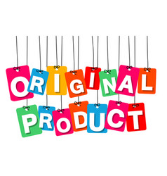 colorful hanging cardboard tags - original vector image