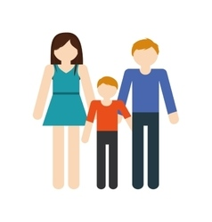 family mom dad and son together members vector image