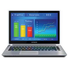 website analitycs on laptop computer screen vector image vector image