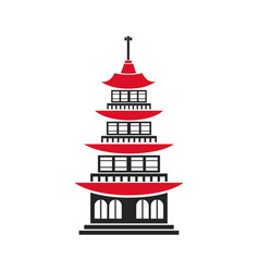 chinese building ancient temple tower pagoda vector image