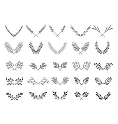Collection of vintage dividers vector