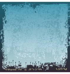 floral border grunge vector image