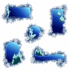 grunge Christmas elements vector image