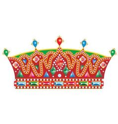 Medieval Slavic king crown vector image