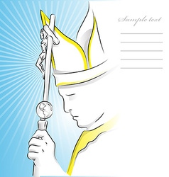 pope background vector image vector image