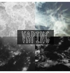 Smoke blurred background vector
