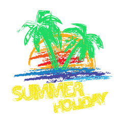 summer holiday brush vector image