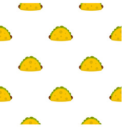 Tortilla wrap with vegetables pattern seamless vector