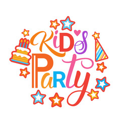 Kids party invitation holiday for children banner vector